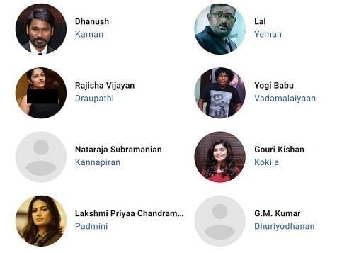 بازیگران فیلم هندی Karnan 2021 کارنان